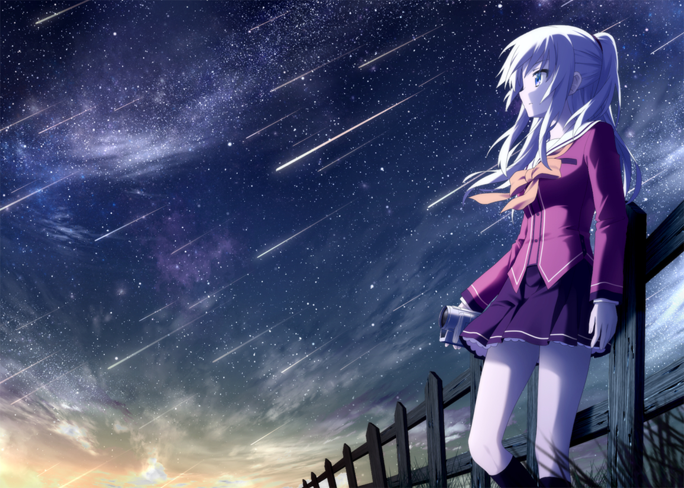 Charlotte Anime Images Nao Hd Wallpaper And Background Photos