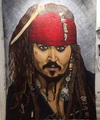 6ft X 8ft painting of Jack Sparrow - pirates-of-the-caribbean photo
