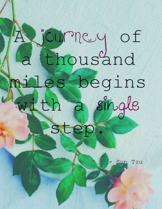 a journey of a thousand miles begins a single step kutipan