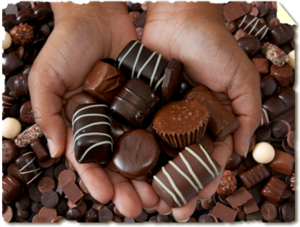 A handful of chocolate!