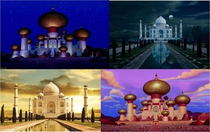 Agrabah's Palace - inspired from Taj Mahal