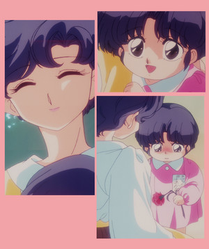 Akane Tendo as a child with her mother (Ranma 1/2)