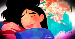 Al and Mulan hug.