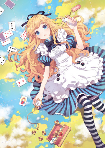 Alice in Wonderland wallpaper containing anime titled Alice in Wonderland