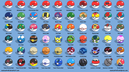 pokemon wallpaper entitled All Pokéballs