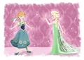 Anna and Elsa - frozen-fever fan art