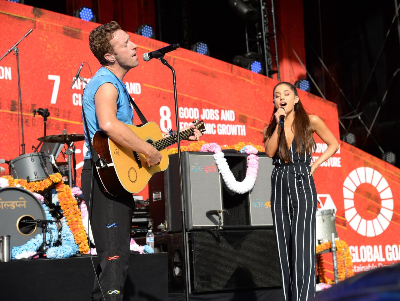 Ariana Grande x Coldplay - Global Citizens Festival 2015