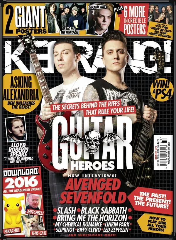 Avenged Sevenfold's Zacky Vengeance and Synyster Gates interview at Kerrang! Magazine