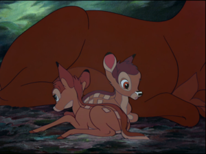 Bambi's two fawns
