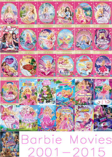 filmes de barbie wallpaper entitled barbie filmes 2001-2015