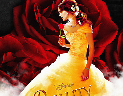 Beauty and the Beast (2017) پیپر وال with a bridesmaid, a gown, and a رات کے کھانے, شام کا کھانا dress entitled Beauty and the Beast