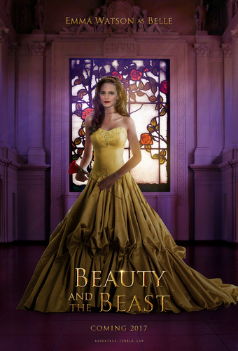 Beauty and the Beast (2017) achtergrond with a hoopskirt entitled Beauty and the Beast