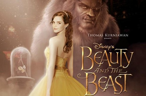 Beauty and the Beast (2017) karatasi la kupamba ukuta entitled Beauty and the Beast