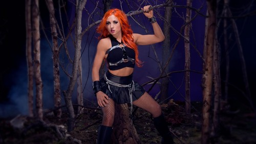 WWE kertas dinding entitled Becky Lynch Honors the Deadman