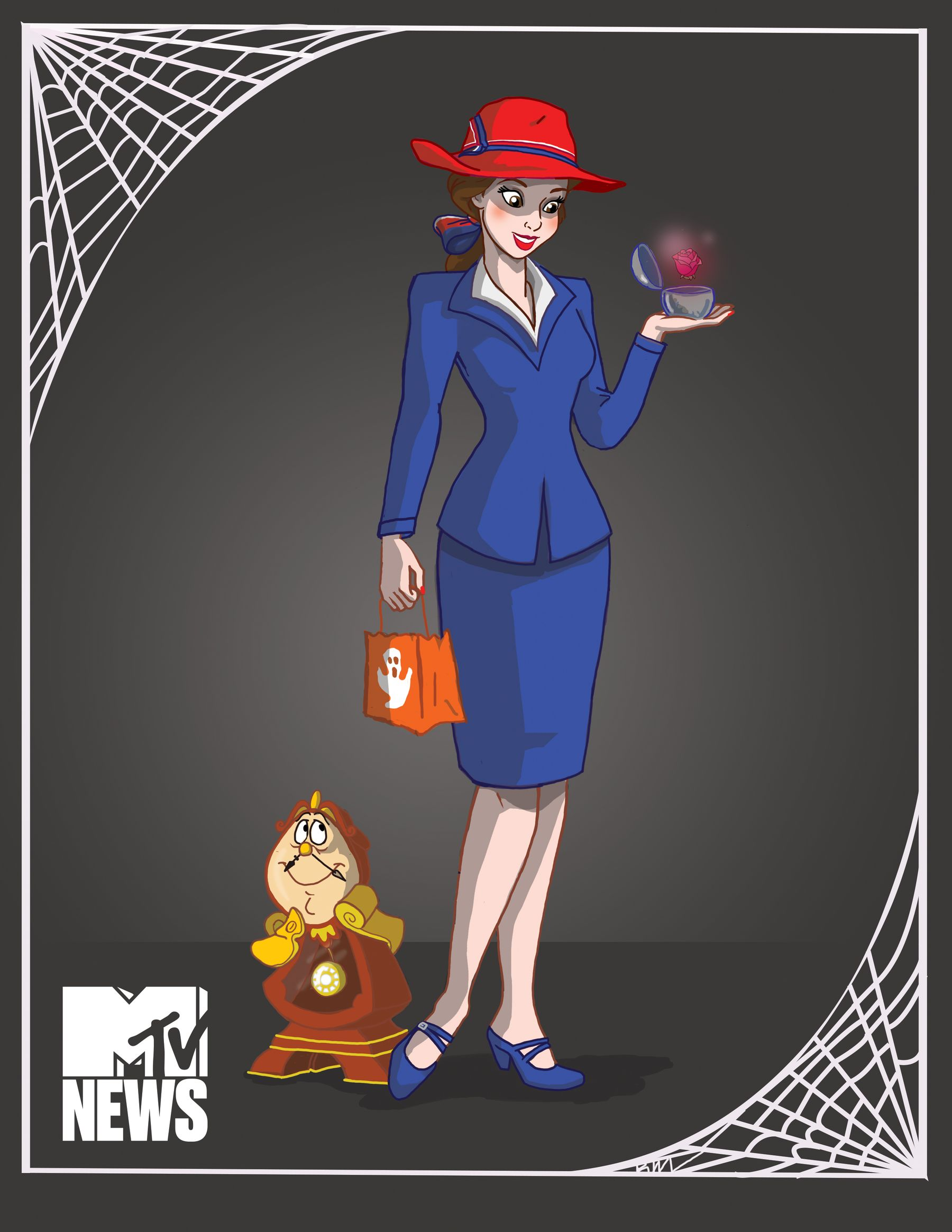 Belle as Agent Peggy Carter