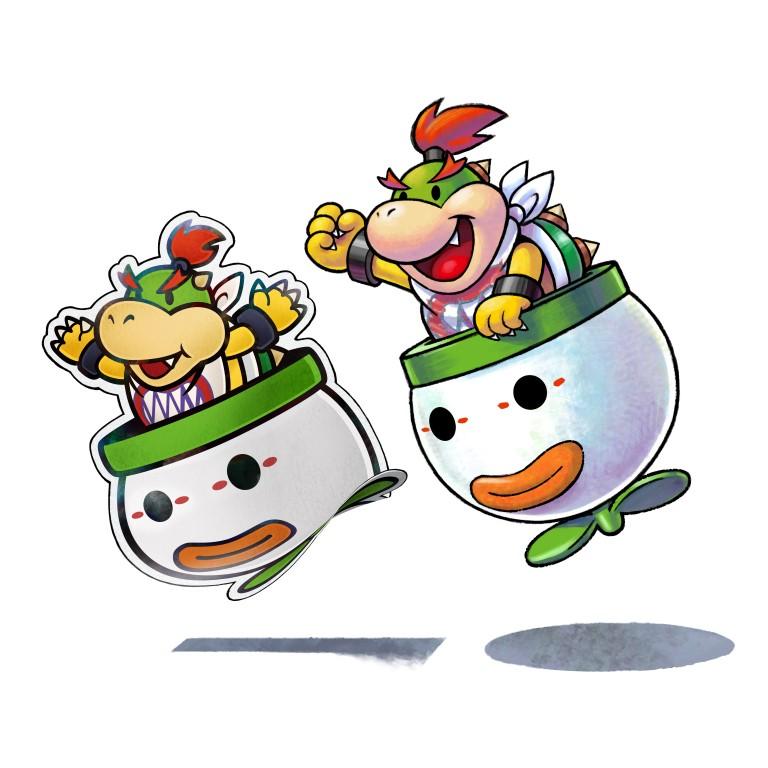 Bowser Jr And Paper Bowser Jr Mario And Luigi Paper Jam