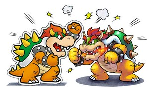 Bowser and Paper Bowser (Mario and Luigi: Paper Jam)