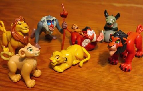 Le Roi Lion fond d'écran called Burger king toys