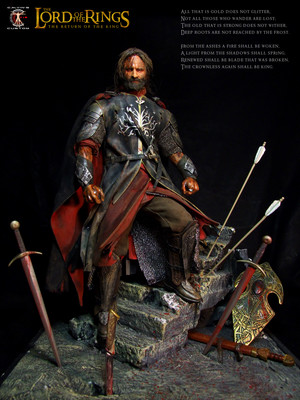 Calvin's Custom 1:6 one sixth scale custom The Lord of the Rings Aragorn as King of Gondor in the fi