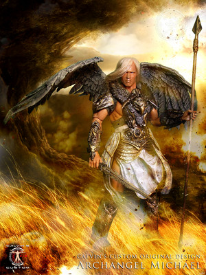 Calvin's Custom 1:6 one sixth scale original thiết kế Arnold as Archangel Michael