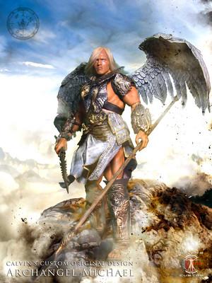Calvin's Custom 1:6 one sixth scale original Design Arnold as Archangel Michael
