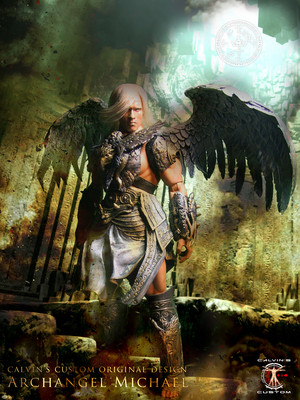 Calvin's Custom 1:6 one sixth scale original Дизайн Arnold as Archangel Michael
