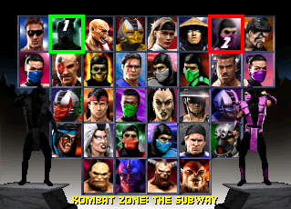 Mortal Kombat kertas dinding probably containing Anime titled Character Select
