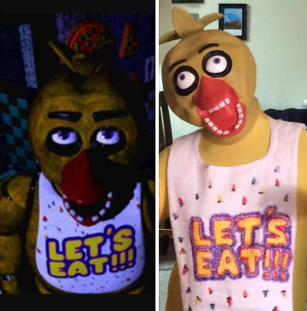 five nights at freddys images chica costume wallpaper and background photos