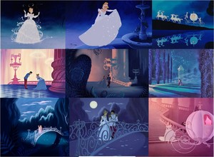 cinderela transformation and waltz collage