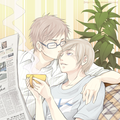 Coffee and Newspaper - hetalia-couples fan art
