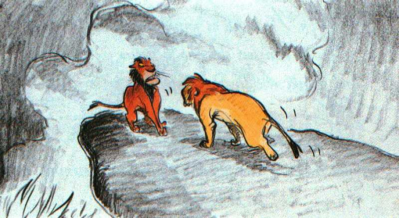 Concept of Simba and Scar