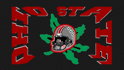 ohio state footbal wallpaper probably with anime called OHIO STATE ketopong, helm ON A BUCKEYE LEAF