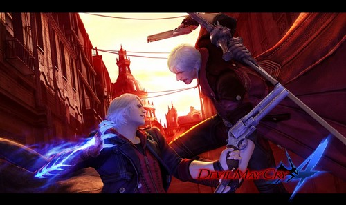 Devil may cry 4 dmc4 nero fight dante devil may cry 4 possibly containing a titled dmc4 nero fight voltagebd Images