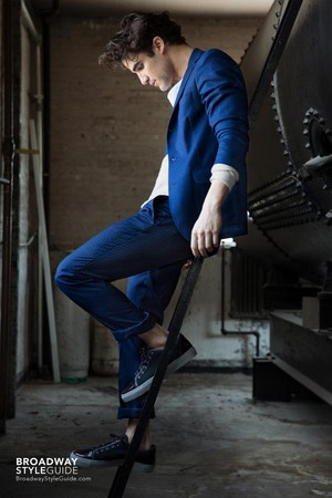 Darren Criss for Broadway Style Guide