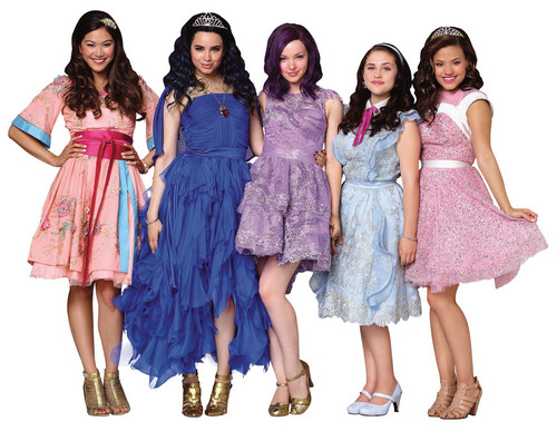 Disney Hintergrund entitled Disney's Descendants' Lonnie, Evie, Mal, Jane and Audrey