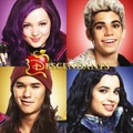 Disney's Descendants' Mal, Carlos De Vil, नीलकंठ, जय, जे and Evie