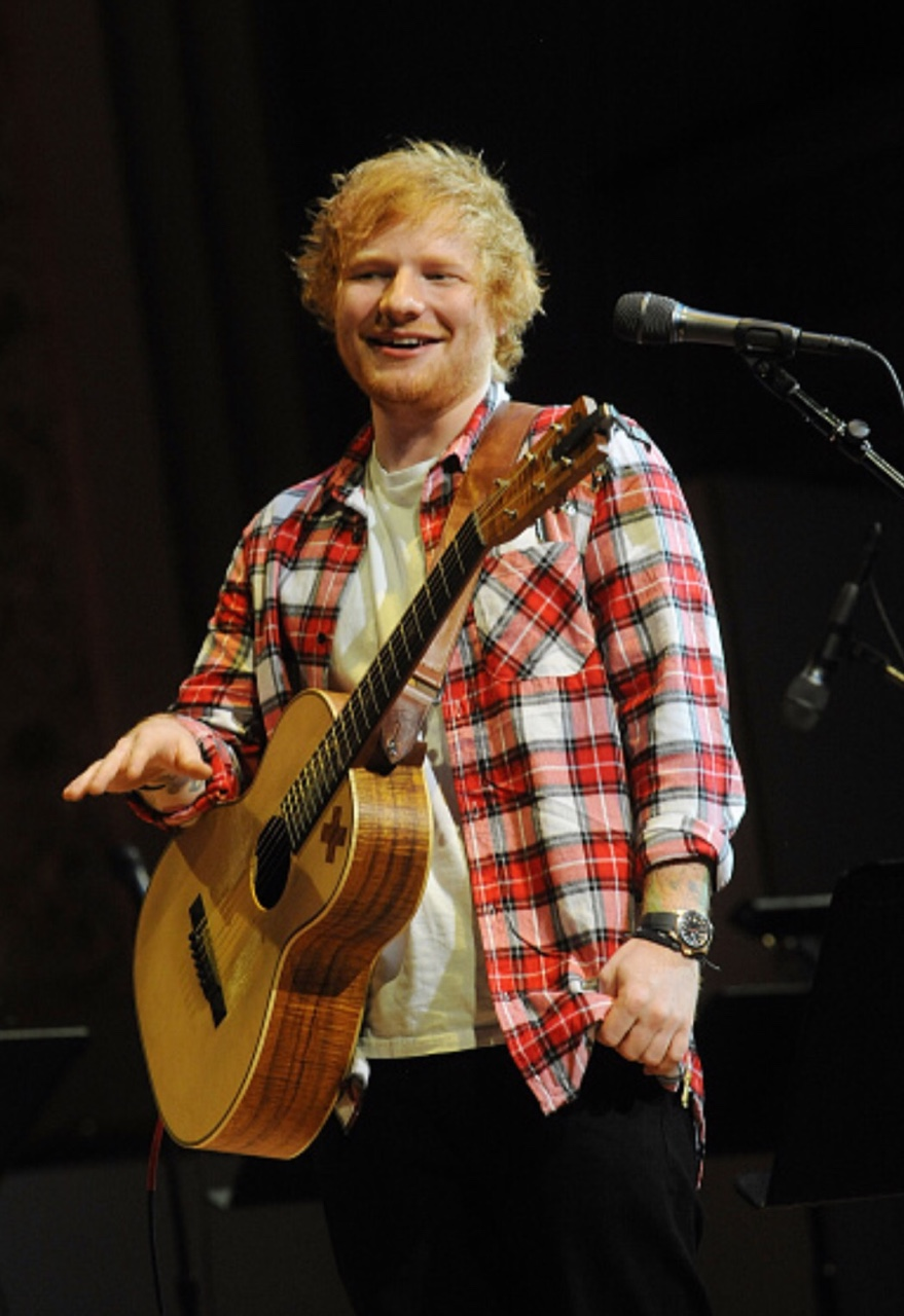 Ed at  the soundcheck for Lean On Him- A Tribute To Bill Withers