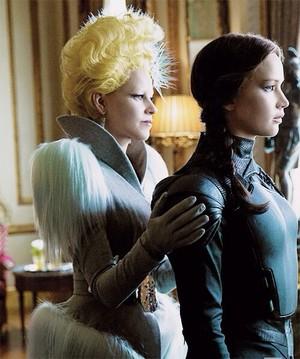 Effie and Katniss