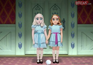 Elsa and Anna as The Shining Twins