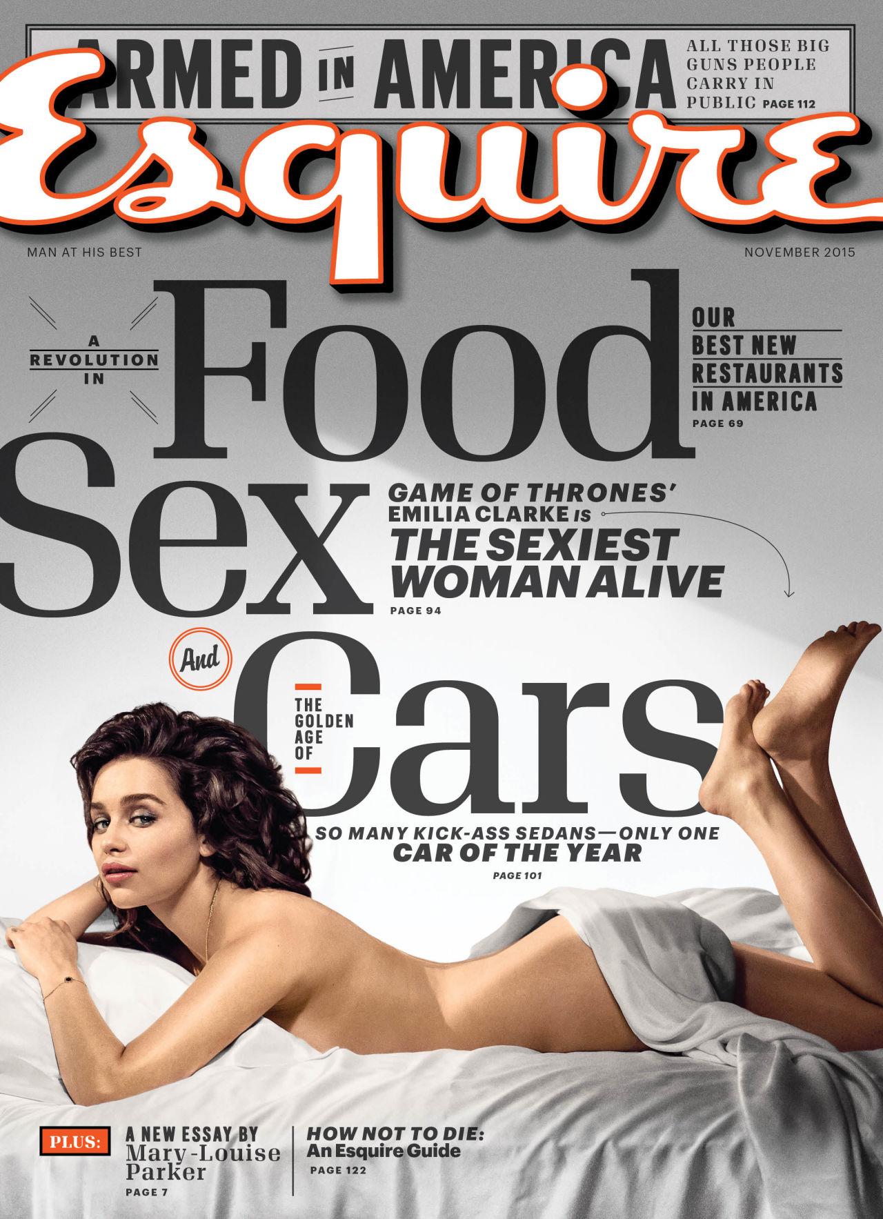 Emilia Clarke at Esquire Photoshot