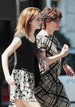Emma and her mom in Central London