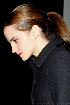 Emma at Lady Gaga's private concert, at Annabel's Club in London