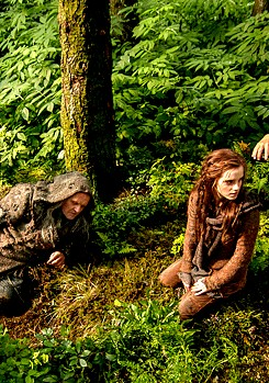 Emma in BTS and stills of Noah
