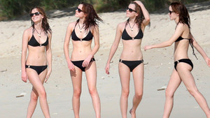 Emma in black bikini