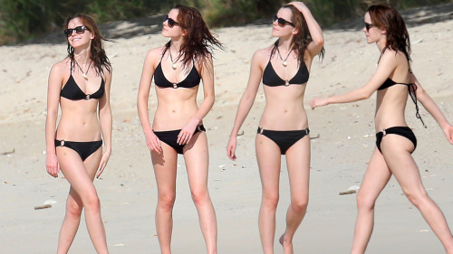 emma watson wallpaper containing a bikini called Emma in black bikini