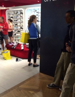 Emma shopping at Selfridges