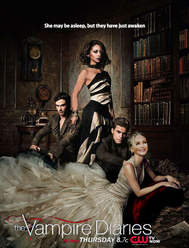 Vampire Diaries – Fernsehserie Hintergrund titled Fan-made Season 7 Poster