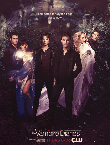 Vampire Diaries – Fernsehserie Hintergrund containing a business suit called Fan-made Season 7 Poster