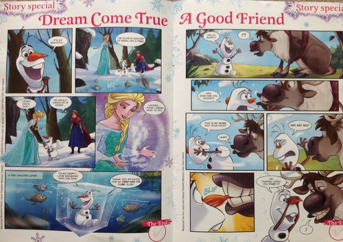 《冰雪奇缘》 壁纸 with 日本动漫 entitled 《冰雪奇缘》 Comics - Dream Come True - A Good Friend