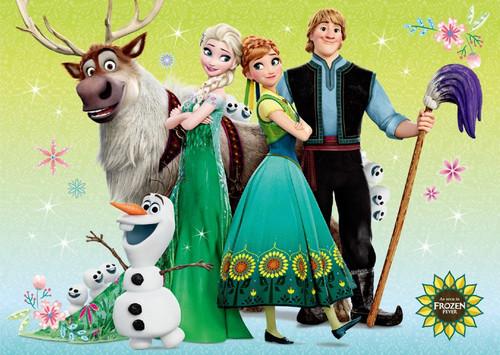 Elsa und Anna Hintergrund called Frozen Fever